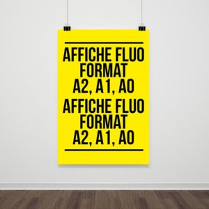 Affiche fluo grand format